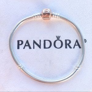 Pandora Jewelry - New Pandora bracelet with rose gold clasp